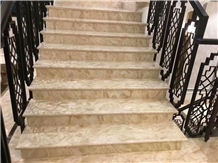 New Own Quarry Moon Star Beige Marble for Stair Cases