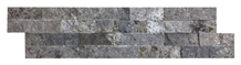Ledger Panel Silver Travertine Split Face Mosaic