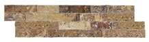 Ledger Panel Yellow Travertine Split Face Mosaic