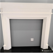 Aegean Limestone White Fireplaces Mantel Hearth