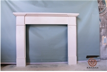 Aegean Limestone White Fireplaces Mantel Surround