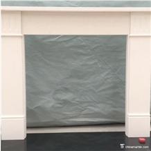 Aegean Limestone White Simple Style Fireplaces