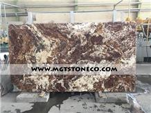 Walnut Tra-Onyx Slabs & Tiles, Iran Brown Onyx