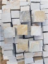 Mystique White Quartzite Cobbles & Pavers
