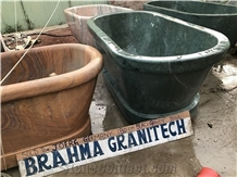 Verde Guatemala Green Marble Bath Tub