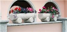 G603 G682 G654 Granite Stone Flower Pots Vases Granite Troughs Planter