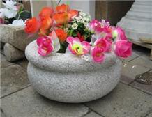 G603 Granites Stones Flower Pots, Flower Bowls,Troughs,Planters