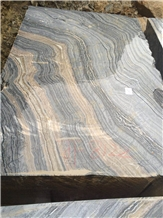 Silver Wave Marble- Black Forest Brown Vein Marble Quarry Block