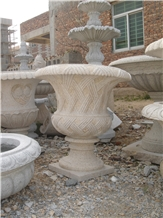 Western Style Natural Stone Flower Pot