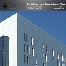 Polished White Nano Glass Stone,Exterior Wall Cladding.