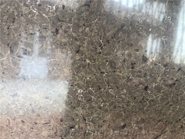 Calacatta Marble Look Quartz Slabs From Viet Nam