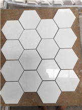 Competitive Quality and Price Thassos White Mosaic