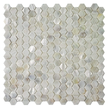 Oyster Shell Backsplash Tile Mini Hexagon Mosaic