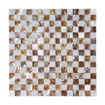 White Shell Mosaic Tiles Mother Of Pearl Seamless Backsplash Panel