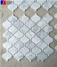 Bianco Carrara Marble Lantern Shape Mosaic Marble Block Price Flooring