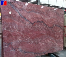 Brazil Quarry Iron Red Granite Slab with Factory Price for Wall Clads