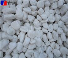 China Thassos Snow White Laizhou White Marble Pebble Stone