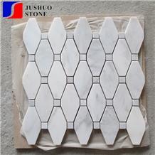 Corchia Venato Vagli,Bianco Venatino Marble,Venatino White Mosaic Tile