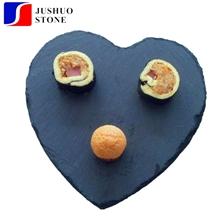 Heart Shape China Black Slate Cheese Plate,Eco-Friendly Natural Slate