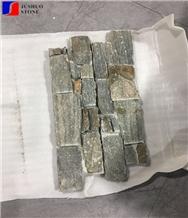 Hebei Green Grey Slate Wall Cladding Ledge Stone