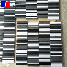 Multi Color Polished Stone Mosaic Tiles and Wall Cladding Panel Pavers