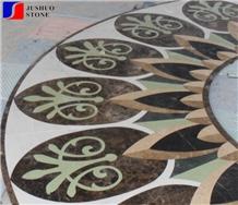 Natural Marble Waterjet Medallio Modern Style & Hot Sale Polish Floors