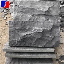 Natural Split Zangpu Basalt,Zhangpu Black Mushroomcladding Wall Tile
