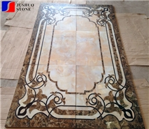 New Design China Multicolor Marble Water Jet Square Medallion Tile
