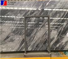 Polished Batik Black White Grey Malysian Market Marble Slabs Selling