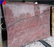 Polished Iron Red Granite Slabs