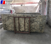 Polished Petrous Cream Granite,Alaska Gold,Alaska White Tile Slab Use