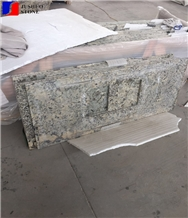 Polished Petrous White/Gold Granite Bench Top,Kitchen Bar Island Top