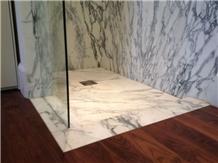 Carrara White Marble Shower Tray,Bathroom Floor Base