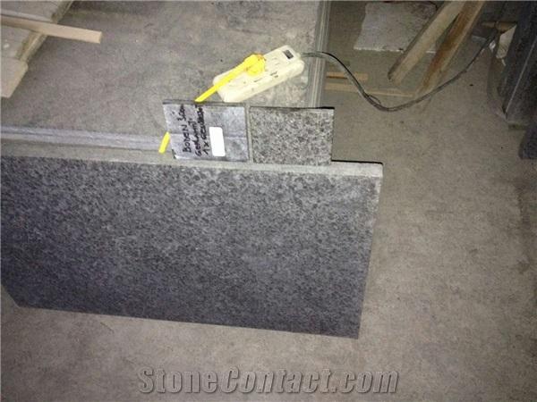 China Black G684 Basalt Flamed Tiles Cuttingfloor Stonecontact