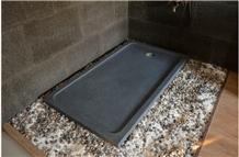 Impala Black Sesame Granite Shower Tray,Bathroom Floor Shower Base