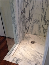 Italy White Marble Shower Tray,Bathroom Floor Base