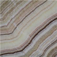Onice Brioche Turkey Rainbox Onyx Slab,Machine Cut to Size Floor Tiles