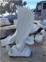 Hand Carved Eagle, Stone Carving, Natural Stone Sculpture