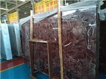Rosso Levanto Marble Floor and Decor Backsplash
