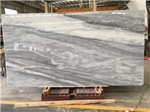 Cloudy White Marble Slabs and Tiles,Cut to Sizes