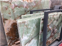 Ancient Green Jade Onyx Slab/Tile/Cut to Size for Tv Set Cladding