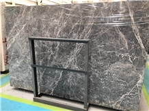 Hermes Grey /Brown /Emperador Fume Marble Polished for Tv Set Cladding