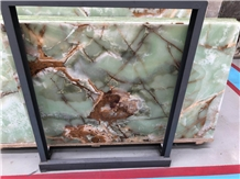 Own Factory Ancient Green Jade Onxy Slab/Tile/Cut to Size for Wall