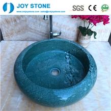 Exquisite Bathroom Wash Basin Green Marble