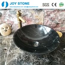 Exquisite Bathroom Wash Basin Nero Marquina Black Marble