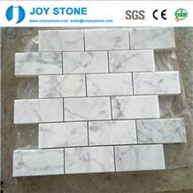 Fashion Design Natural White Marble Stone Mosaic Tile for Floor 40x40