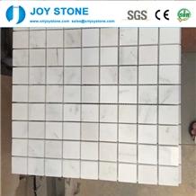Fashion Design Natural White Marble Stone Mosaic Tile for Floor 60x60