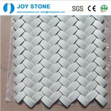 Fashion Design Natural White Marble Stone Mosaic Tile for Floor 90x90