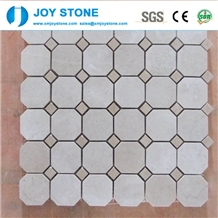 Fashion Design Natural White Marble Stone Mosaic Tile for Wall 30x30