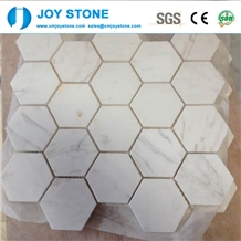 Fashion Design Natural White Marble Stone Mosaic Tile for Wall 40x40